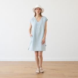 Sky Blue Melange Lin Robe Emily