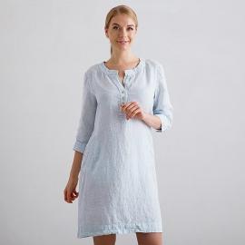 Sky Blue Pinstripe Lin Robe Layla