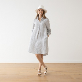 Silver Melange Lin Robe Camilla