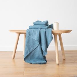 Jeans Serviettes de Bain Texure Gaufrée en Lin et Serviettes Lavé