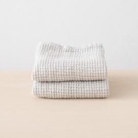 Set de serviettes de toilette, big nid d'abelle en lin Silver