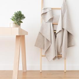 Ensemble de serviettes de bain en lin naturel et coton Wafer