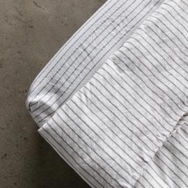 Graphite Drap Housse Bonnet Profond en Lin Stripe Washed