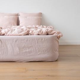 Rose Drap Housse Bonnet Profond Stone Washed