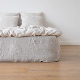 Silver Drap Housse Bonnet Profond Stone Washed