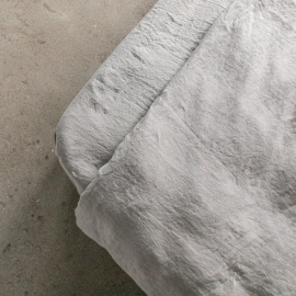 Taupe Drap Housse Bonnet Profond Stone Washed