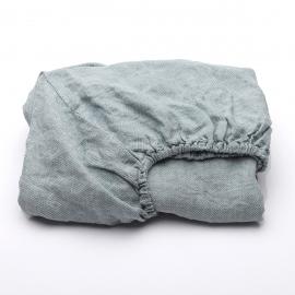 Stone Blue Drap Housse Bonnet Profond Stone Washed Rhomb