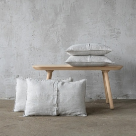Lin Housse de Coussin Oatmeal Rustico Washed