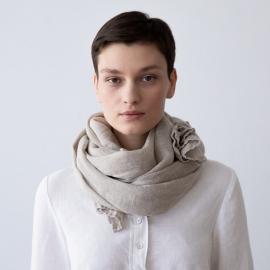 Écharpe Estivale en Lin Garza Couleur Natural