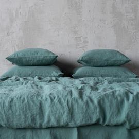 Parure de lit en lin lavé Moss Verte