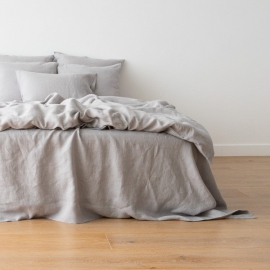 Cool Grey Housse de Couette en Lin Crushed
