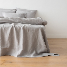 Cool Grey Drap Plat en Lin Crushed