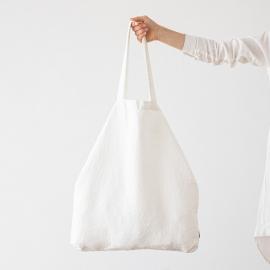 Sac shopping en Lin Terra Off White
