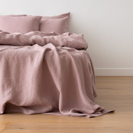 Dusty Rose Drap Plat en Lin Crushed