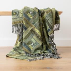 Plaid en laine Mérinos Marta Forest Green