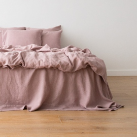 Dusty Rose Parure de Lit en Lin Crushed