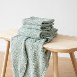 Set de draps de bain en lin big Sea Foam