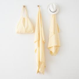 Serviettes de Plage en Lin Brittany Yellow