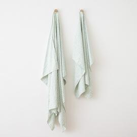 Serviettes de Plage en Lin Brittany Aqua Foam