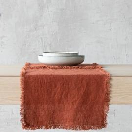 Set de table Terra avec franges faites main, Brick