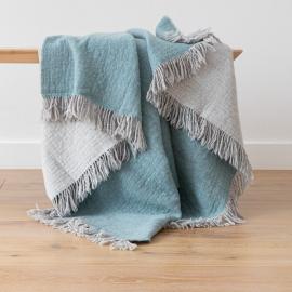 Plaid en laine Mérinos Marcus Aqua