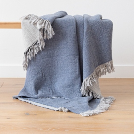 Plaid en laine Mérinos Marcus Denim