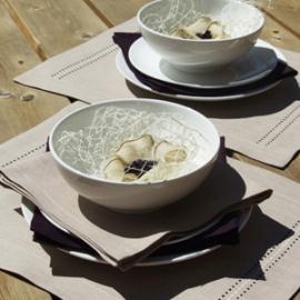 Collection Stitch Aubergine & Sable par LinenMe