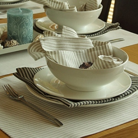 Serviettes et set de table Jazz Beige