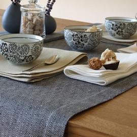 Chemin et serviettes de table Rhomb