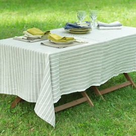 Nappe Bretagne Naturelle, Serviettes de table Lara Céleri & Chambray