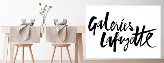 LinenMe est maintenant présent aux Galeries Lafayette